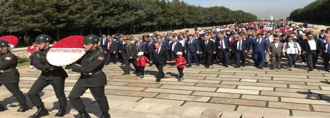 Hamzaçebi başkanlığında Anıtkabir yürüyüşü...